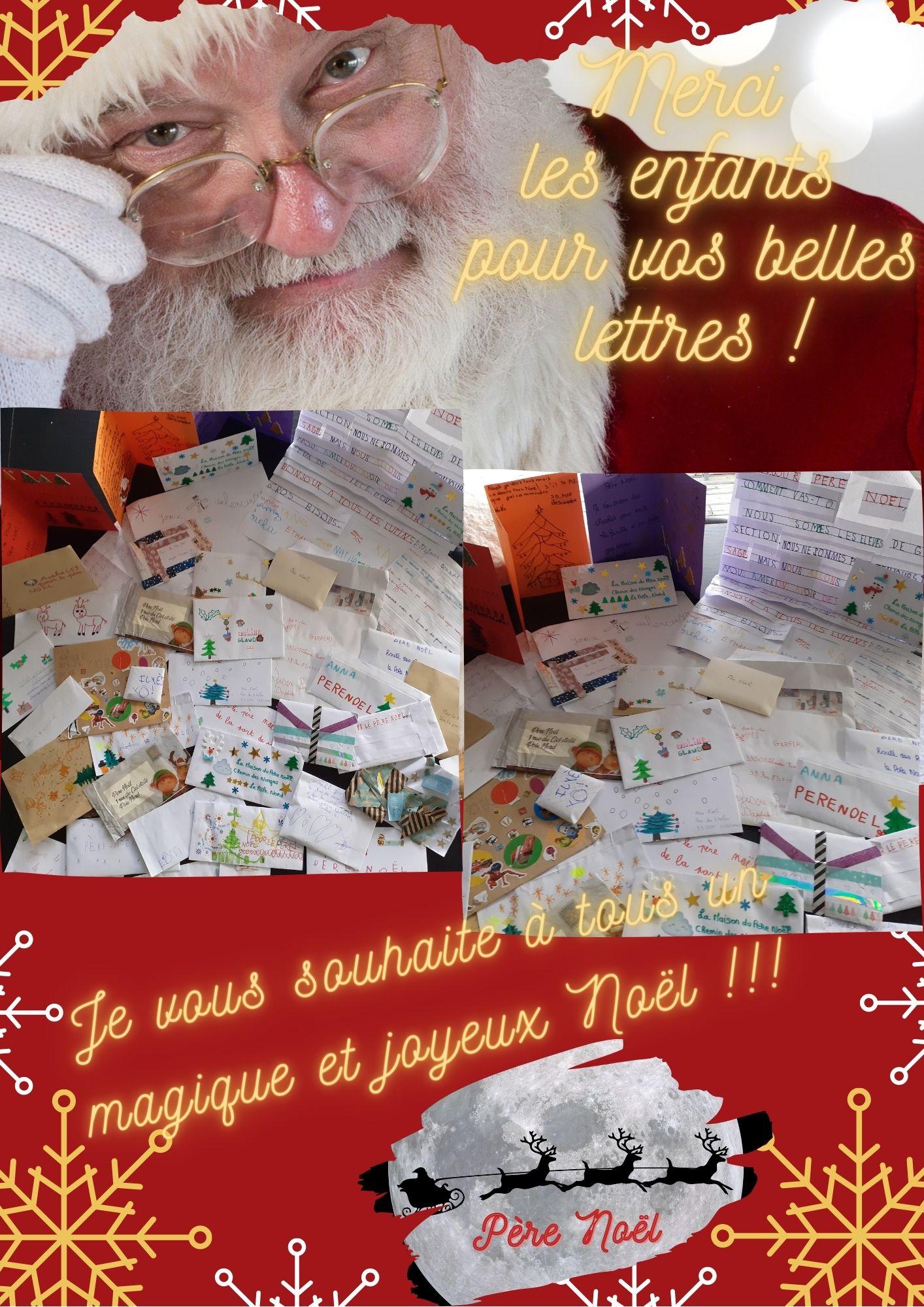Merci les enfants pour vos beaux courriers !